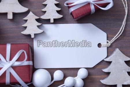 etiqueta de navidad copiar espacio regalo