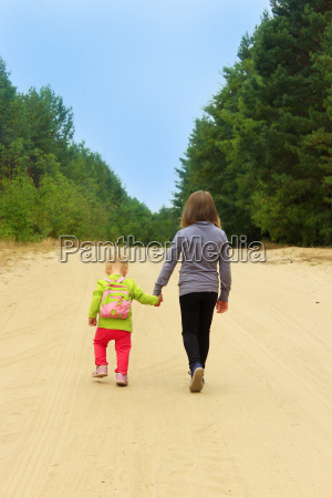 sisters go on a forest road