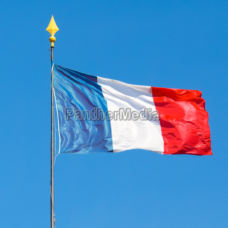 flag of france with blue sky