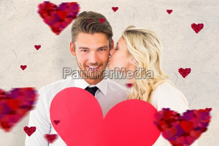 composite image of attractive young couple
