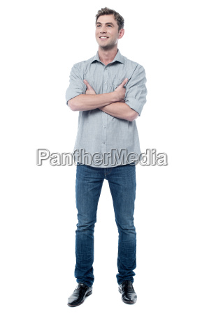 handsome guy posing with crossed arms