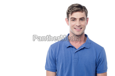 smiling young guy isolated on white