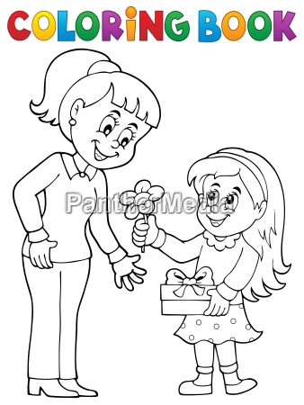 coloring book mothers day theme 1