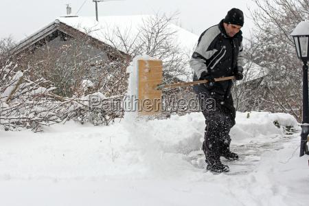 one man admits in heavy snow