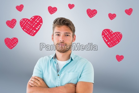 composite image of handsome young man