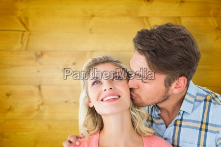 composite, image, of, handsome, man, kissing - 15320961