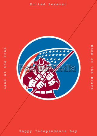 independence day greeting card american patriot