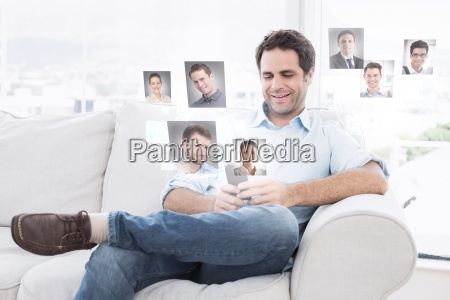 composite, image, of, cheerful, man, sitting - 15331567