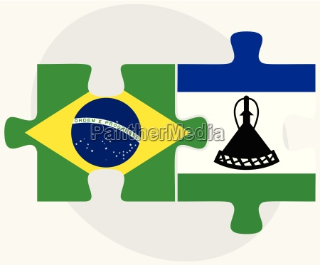 brazil and lesotho flags