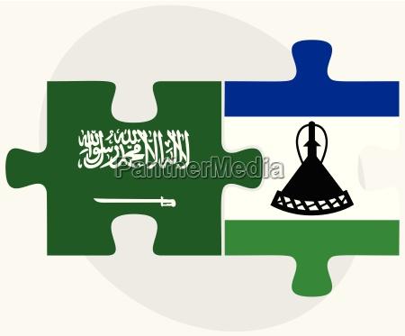 saudi arabia and lesotho flags