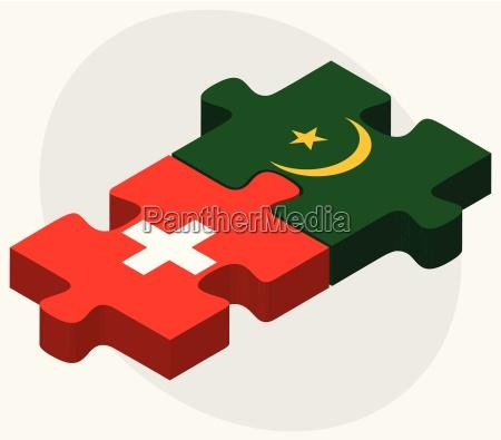 switzerland and mauritania flags