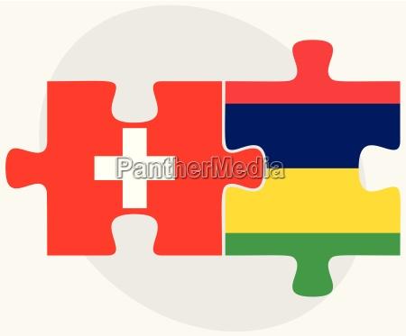 switzerland and mauritius flags