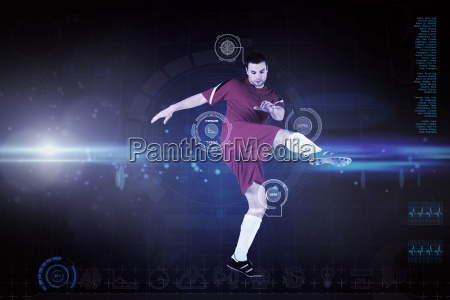 composite image of football player in