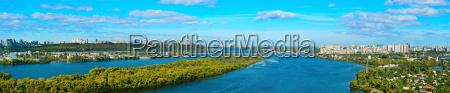 kiev panorama overview ukraine