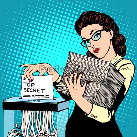 paper shredder top secret document destroys