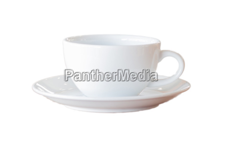 white coffee cup isolated on a