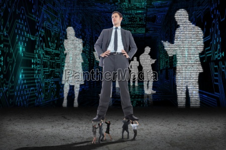 composite image of business people supporting