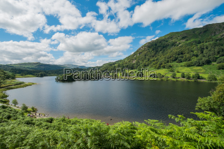 rydal water in the lake district