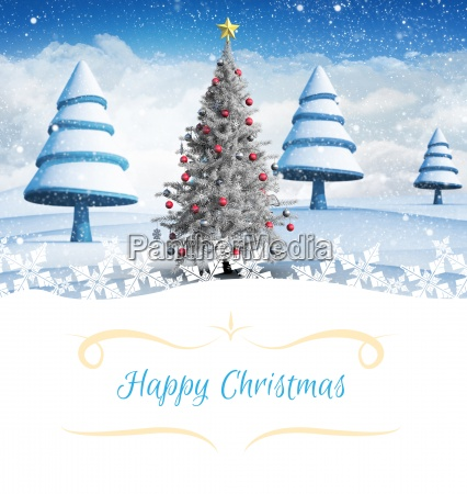 composite image of christmas card