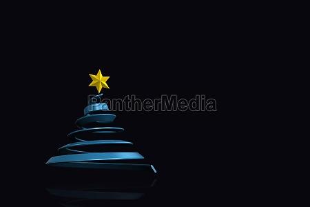 composite image of blue christmas tree