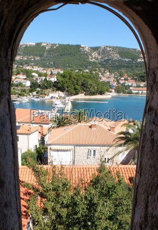view from the church tower on