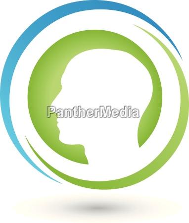 face head human person logo