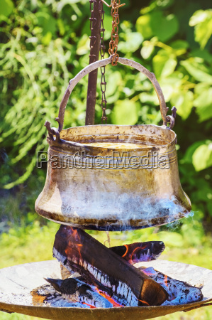 cauldron with food