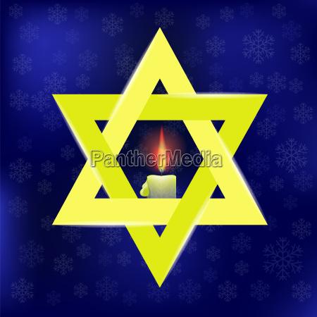 yellow star of david and burning