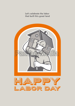 labor day greeting card builder construction