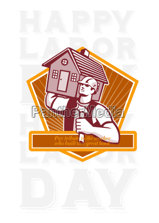 labor day greeting card builder hammer