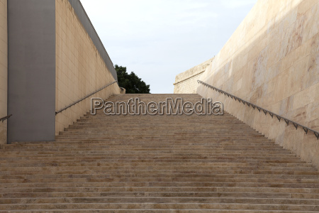 old stairs in city gate of