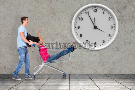 composite image of young couple having