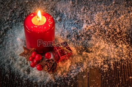 christmas candle christmas card