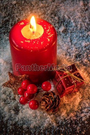 christmas card background with candle