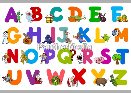 funny alphabet for kindergartens