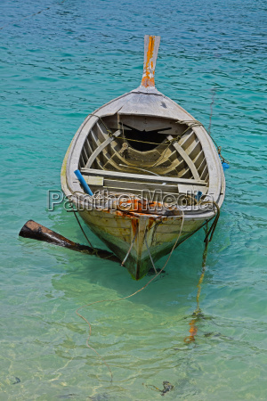 traditional thailand old long tail boat