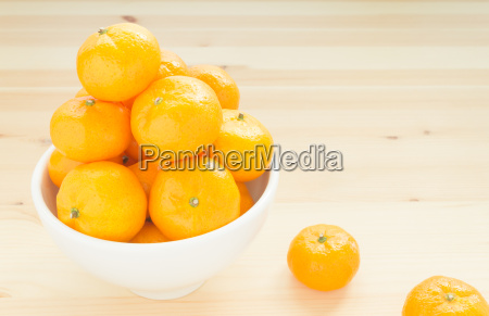 mandarin or china orange in white