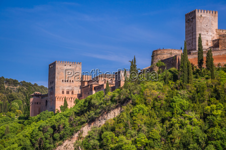 arabic ancient fortress of the alhambra
