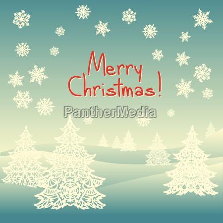 merry christmas ornament landscape