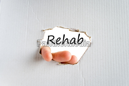 rehab text concept