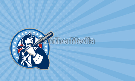 business card american patriot baseball bat