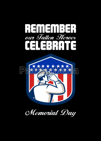 memorial day greeting card american soldier