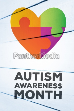 composite image of autism awareness month