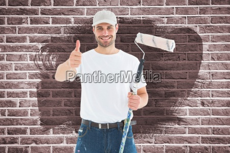 composite image of happy man with