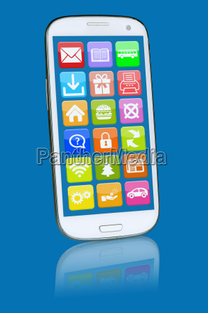 smartphone or mobile phone with programs