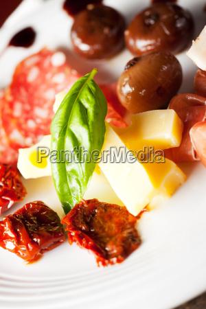 italian antipasti on a plate