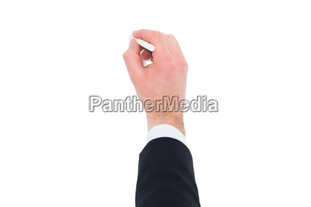 hand of businessman writing with a