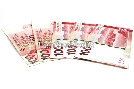 100 hong kong dollar bank note
