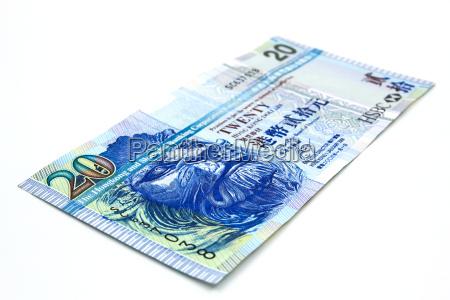 20 hong kong dollar bank note