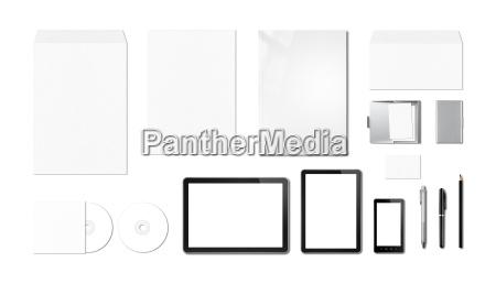 corporate branding mockup template white background